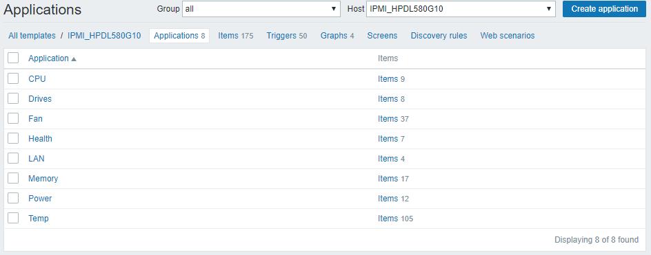Zabbix шаблон для мониторинга сервера HPE Proliant DL580 Gen10