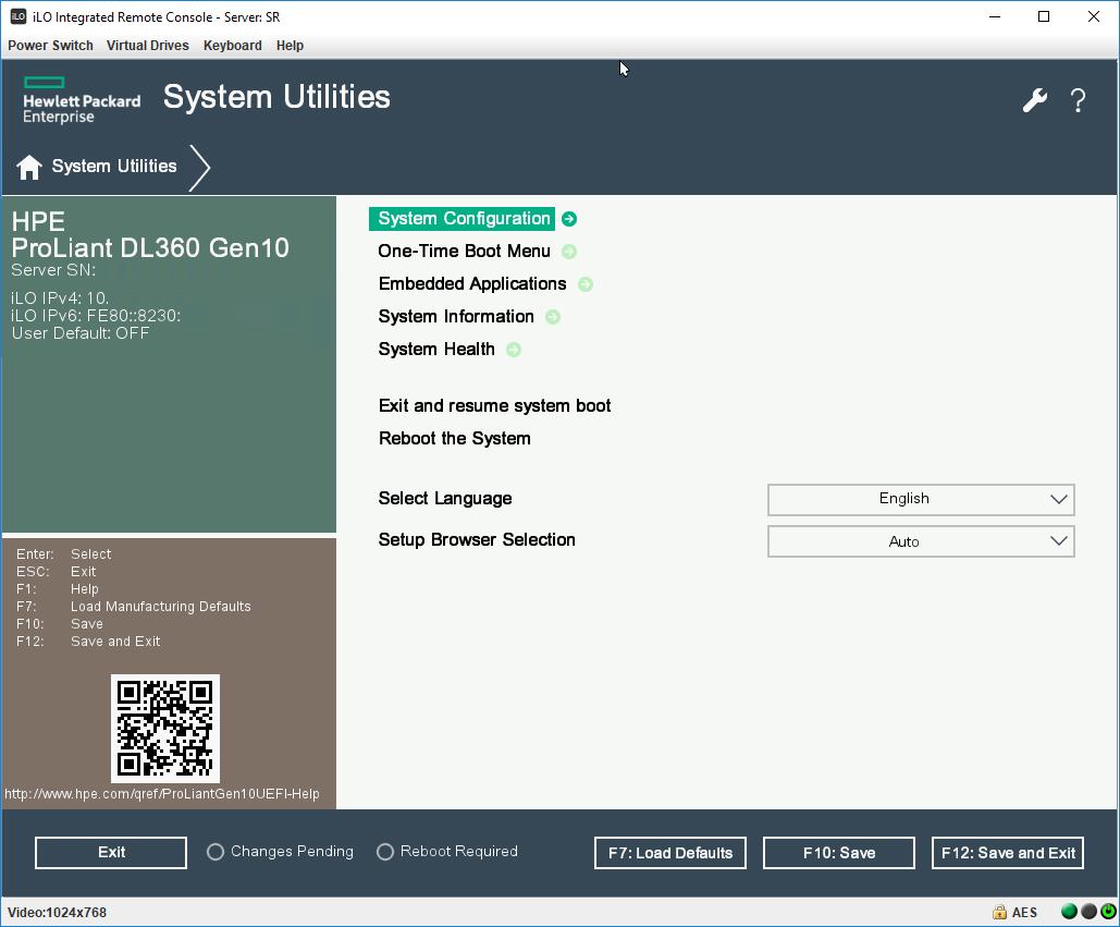 HPE Proliant Gen10 - добавляем опцию в UEFI Boot Order list