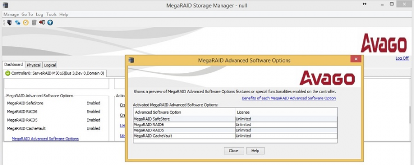MegaRAID Storage Manager